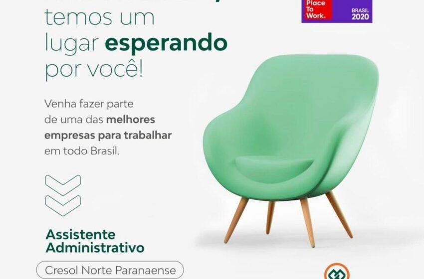 CRESOL – Oportunidade de emprego na unidade de Londrina