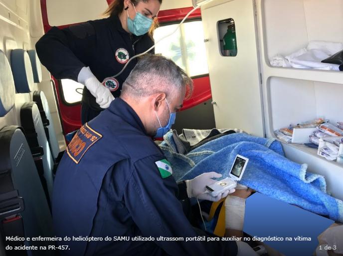 Grave acidente de trânsito mobiliza equipes de resgate na rodovia PR-457 em Itambé