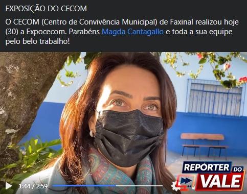 """VÍDEO – Centro de Convivência Municipal de Faxinal realizou hoje a """"Expocecom"""""""