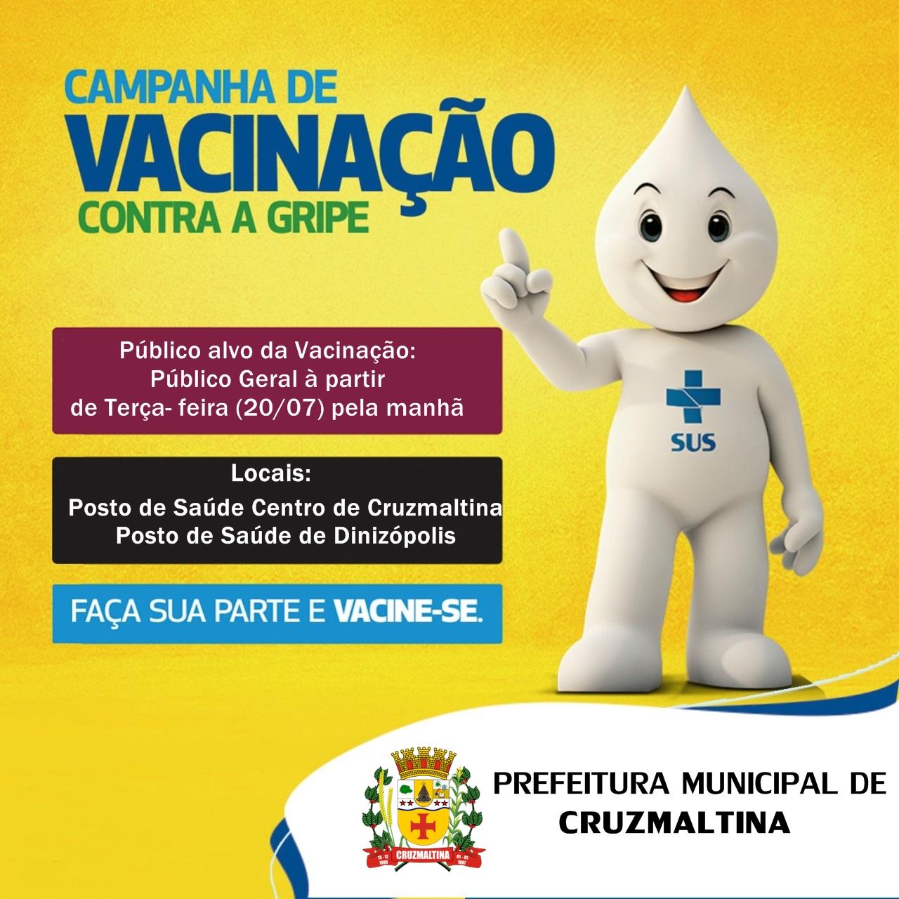 Campanha Vacinação Gripe -Cruzmaltina