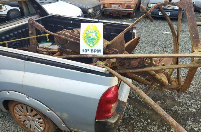 Duas prisões por furto foram registradas em Jussiara, distrito de Kaloré