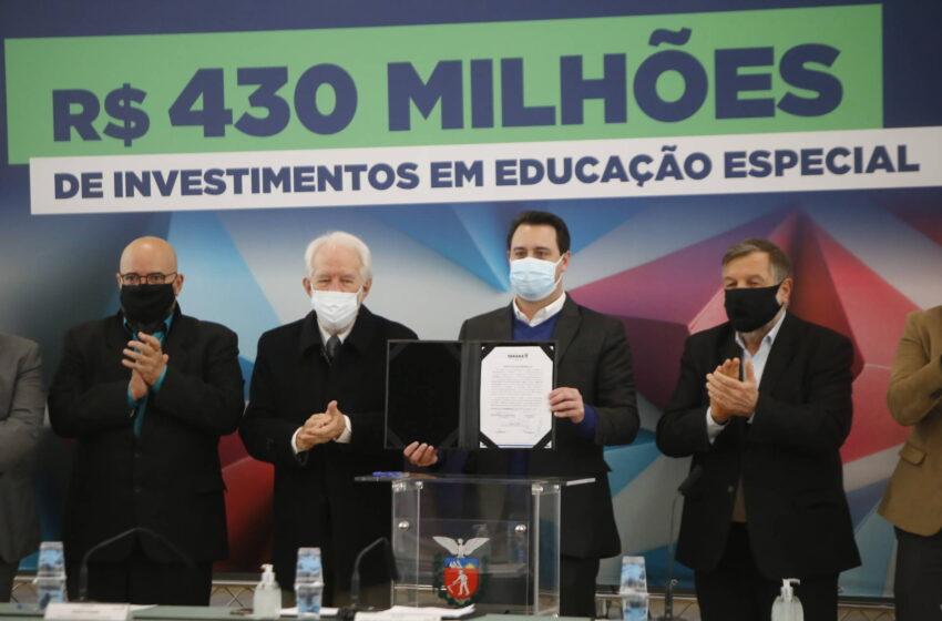 Governador assina termo que prevê novos investimentos nas APAEs
