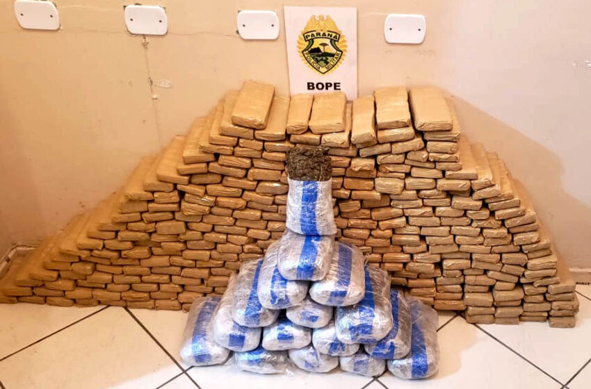 Bope apreende mais de 170 quilos de drogas na Operação Narco Brasil