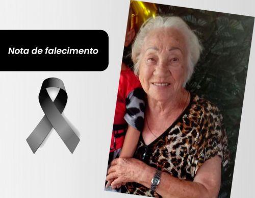 Prefeitura emite nota de pesar pelo falecimento da servidora aposentada, Pedrina Freire