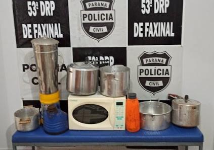 Polícia Civil recupera objetos furtados de Colégio em Faxinal