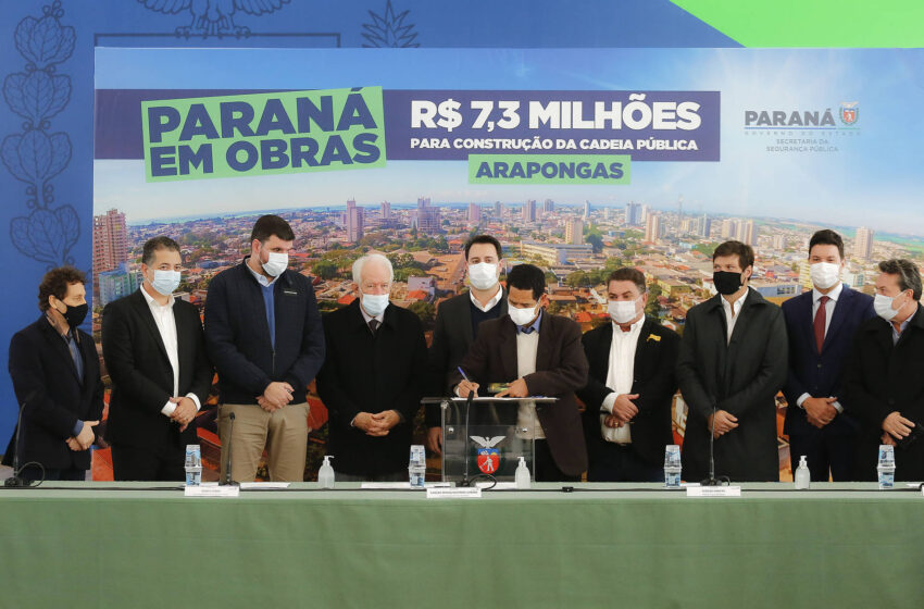 ARAPONGAS – Com investimento de R$ 7,3 milhões, governador autoriza construção da Cadeia Pública