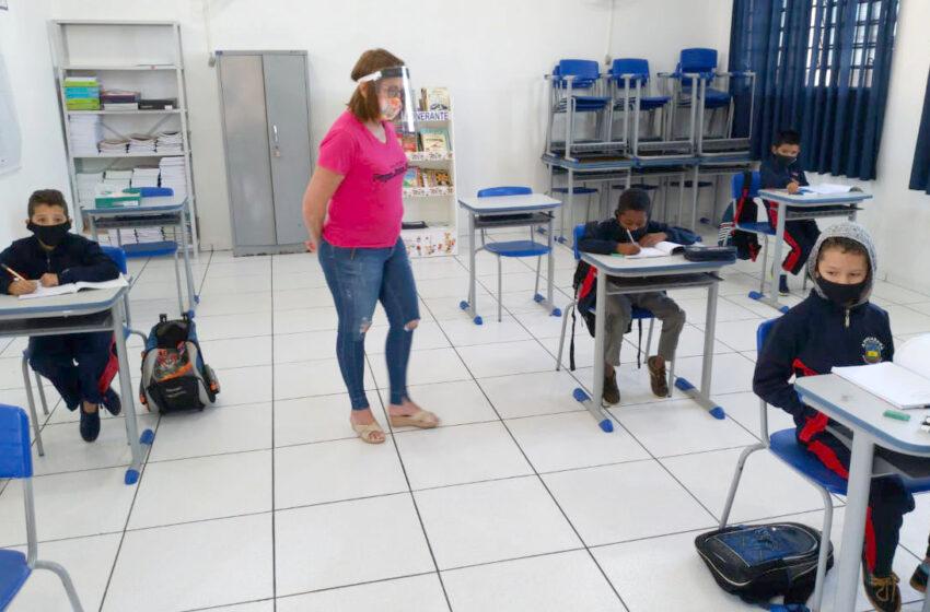 Escolas municipais de Apucarana estão preparadas para a volta às aulas presenciais