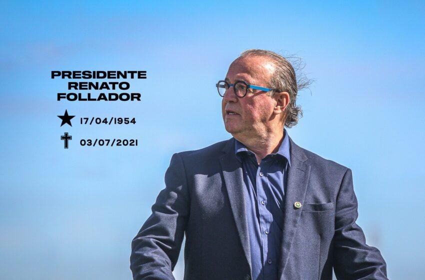 Presidente do Coritiba, Renato Follador morre vítima da Covid-19