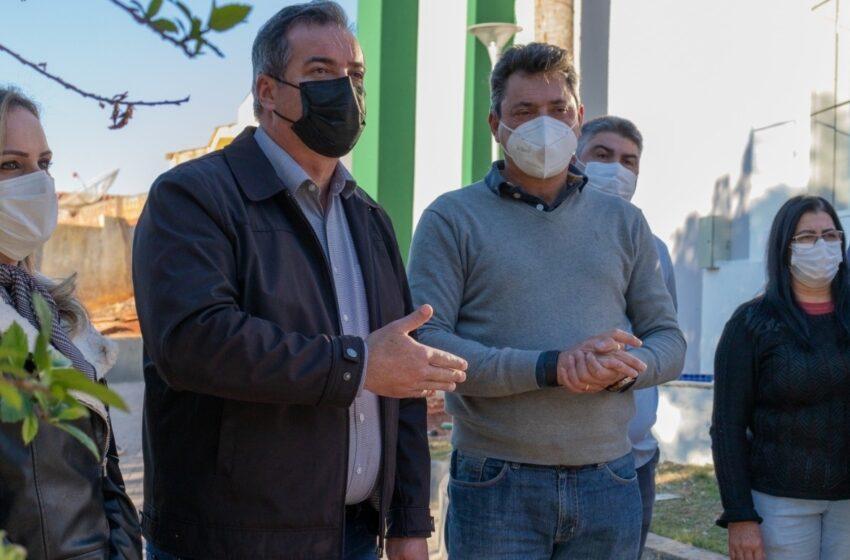 Deputado federal visita obras no município de Cambira