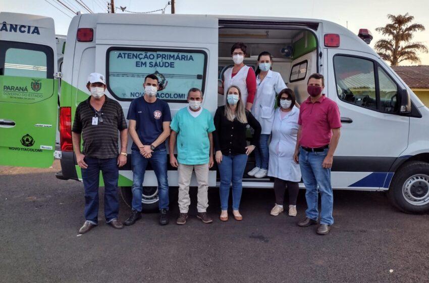 Novo Itacolomi recebe ambulância 0 km e reforça o plantão noturno