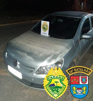 ORTIGUEIRA – Veículo Gol furtado em Londrina é recuperado na BR-376