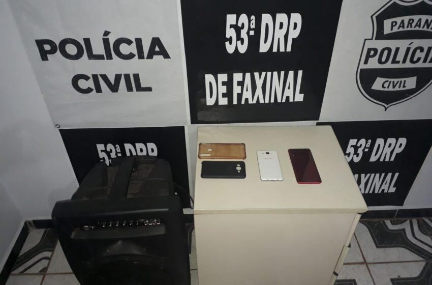 """Polícia apreende objetos em suposta """"Boca de Fumo"""" em Borrazópolis"""