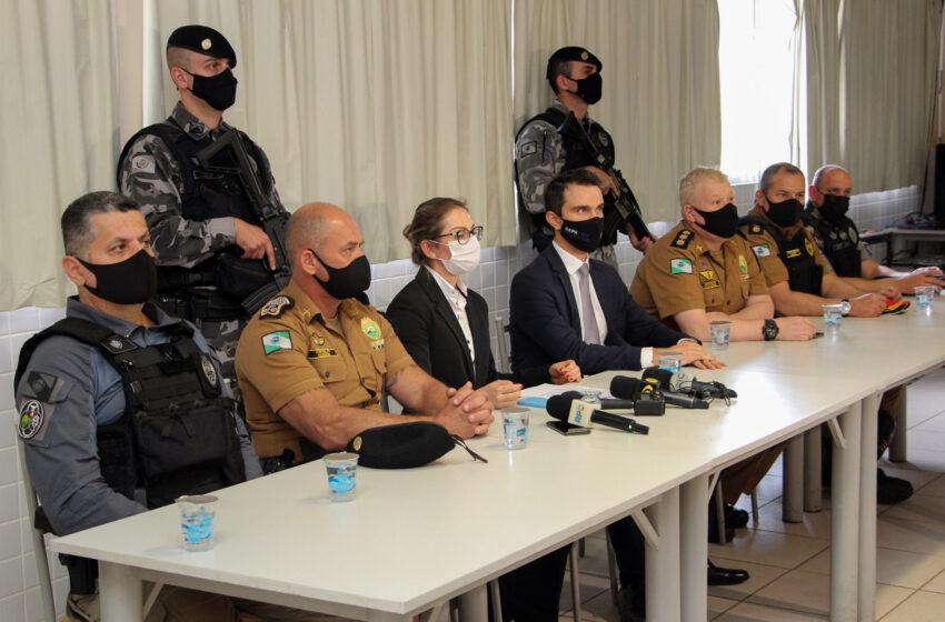 Polícia Militar e Ministério Público deflagram Operação Força e Honra para cumprir 69 mandados judiciais no Noroeste e Oeste do PR