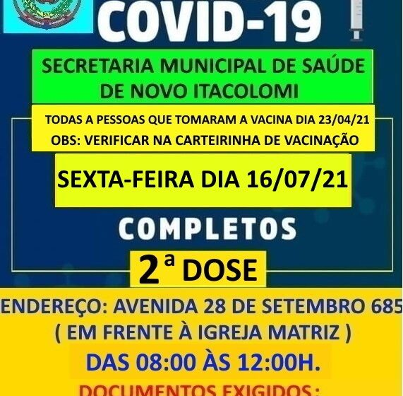 Campanha de vacinação da Covid-19 de Novo Itacolomi