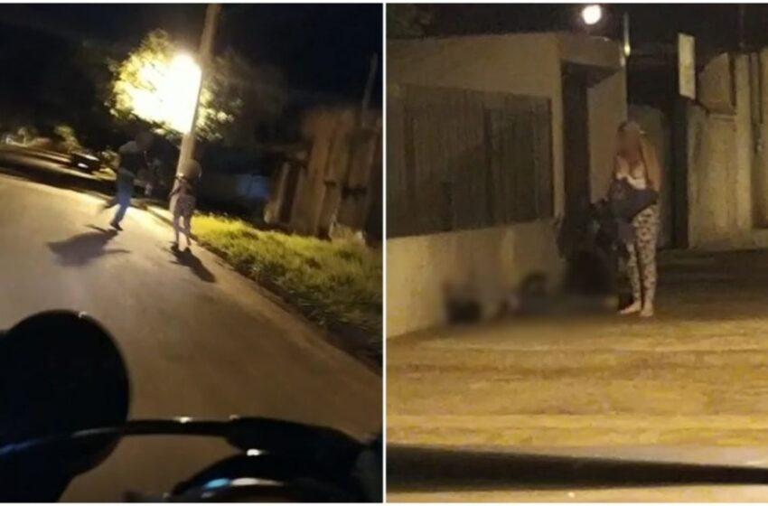 Mulher mata o marido a facadas no meio da rua no Paraná