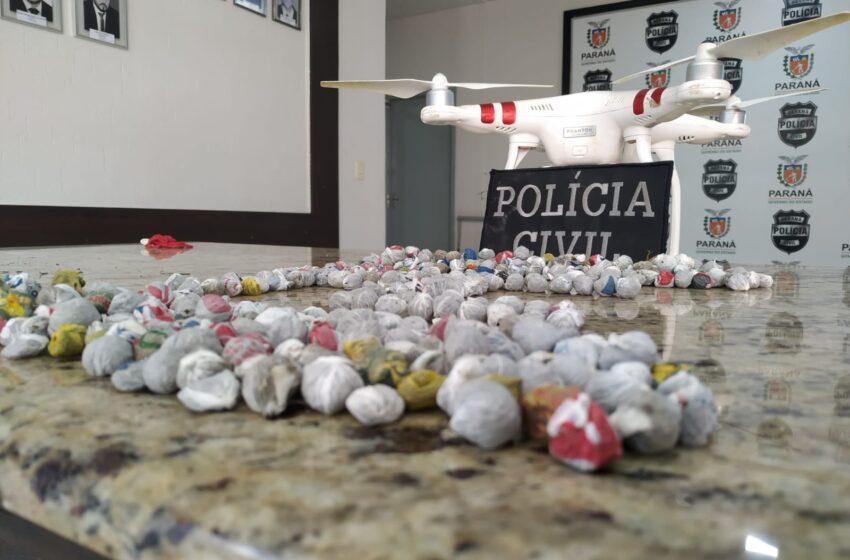 Em Apucarana a policia apreendeu o drone usado para jogar droga no Presídio