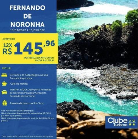 Já pensou em conhecer Fernando de Noronha? Vejam essa vantagem incrível!!!