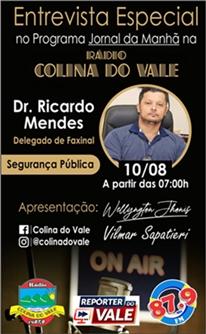 Entrevista com Dr. Ricardo Mendes na Rádio Colina do Vale