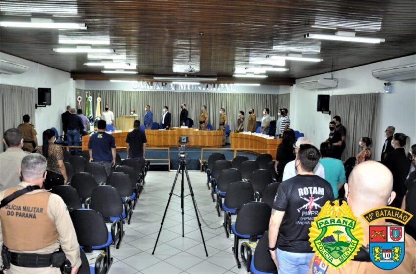 CÂMARA MUNICIPAL DE JANDAIA DO SUL REALIZA HOMENAGEM ALUSIVA AOS 167 ANOS DA PMPR