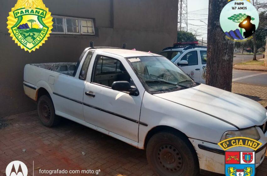 Polícia Militar recupera veículo furtado em Ivaiporã