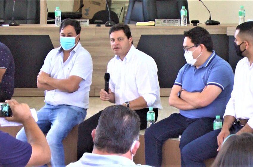 Secretário de estado da infraestrutura e logística Sandro Alex visitou Mauá da Serra e anunciou recursos