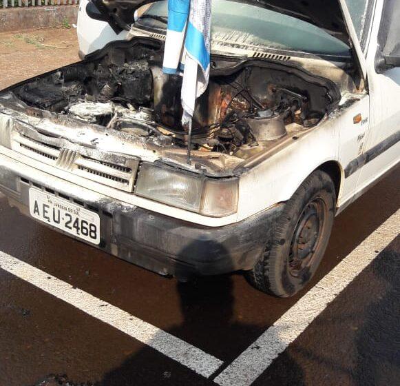 Defesa Civil de Jandaia do Sul combate incêndio em veículo