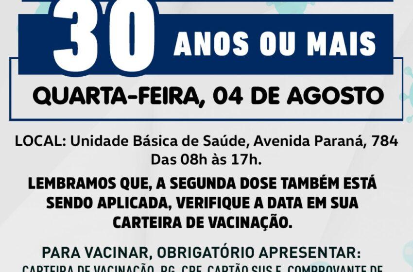 Rio Bom abre vacinação para novos grupos nesta quarta-feira (04)