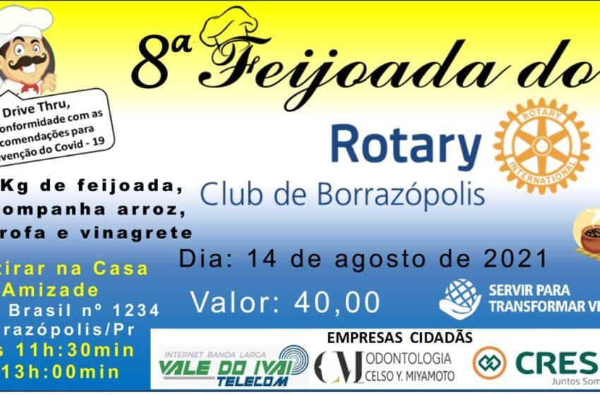 Rotary Club de Borrazópolis vai realizar a sua 8° Feijoada