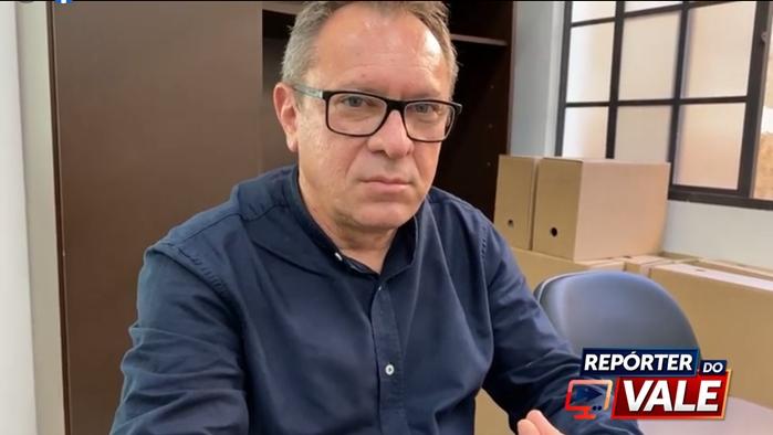 Prefeito Moises de Andrade de Rio Bom concede entrevista ao Repórter do Vale
