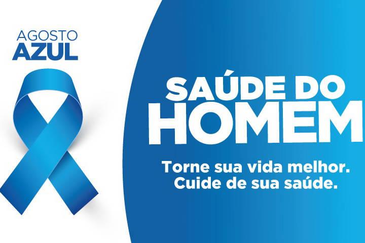 Agosto Azul destaca a prevenção de doenças e a promoção da saúde do homem