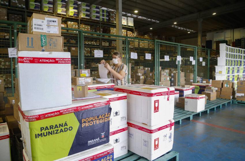 Governo do Estado inicia distribuição de mais 212 mil vacinas contra a Covid-19; veja a divisão