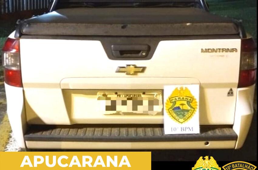 PM recupera veículo furtado em Apucarana