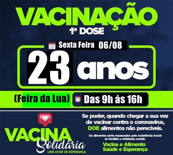 Arapongas abre vacinação para novos grupos nesta sexta-feira (06)