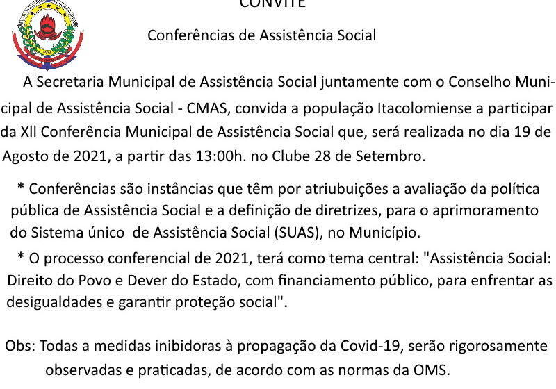 Conferência de Assistência Social em Novo Itacolomi