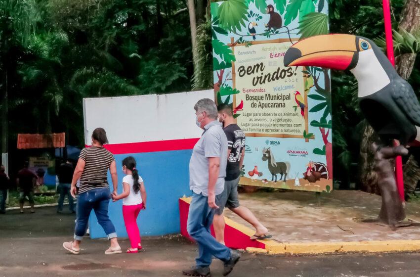 Apucarana reabre Bosque Municipal e os parques Jaboti e da Raposa