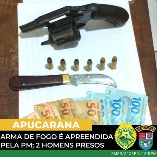 Dois homens são presos com arma de fogo em Apucarana