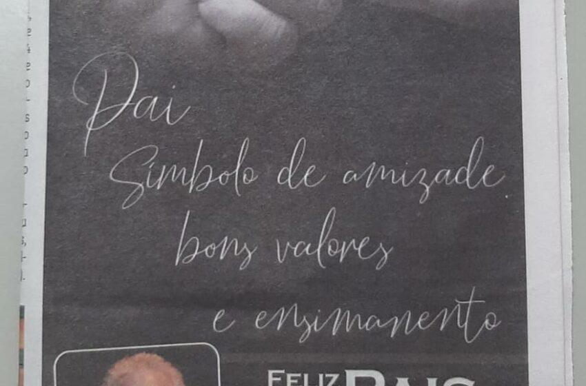 Prefeito Paulo Mendes divulga vídeo parabenizando os pais da Califórnia