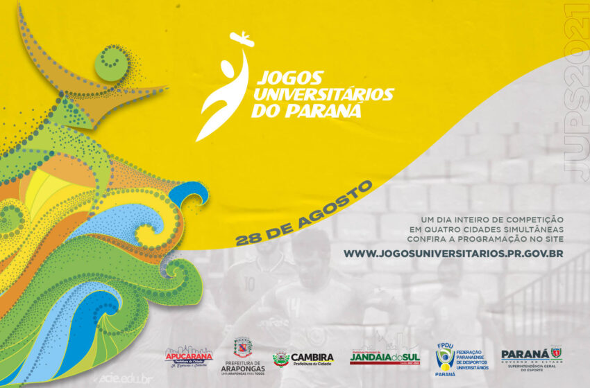 VALE DO IVAÍ – Jogos Universitários do Paraná ocorrem neste sábado, em quatro cidades na região