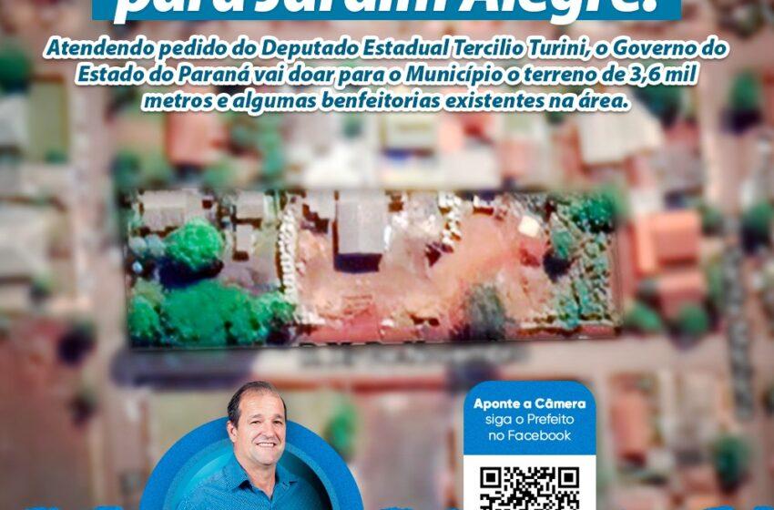JARDIM ALEGRE – Vai receber imóvel do DER para novo Pátio de Máquinas