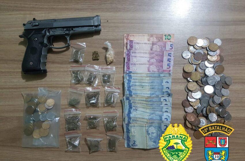 Após bandidos assaltarem mercado em Bom Sucesso, são detidos pela PM