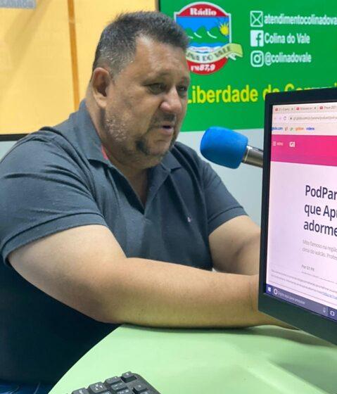 Prefeito Pedro Taborda fala ao vivo com repórter Wellyngton Jhonis