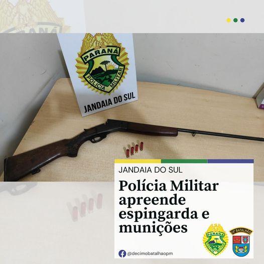 PM de Jandaia do Sul apreende arma de fogo e munições