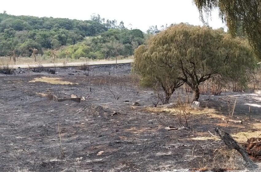FAXINAL – Homem acusado de provocar queimada ambiental é detido pela policia