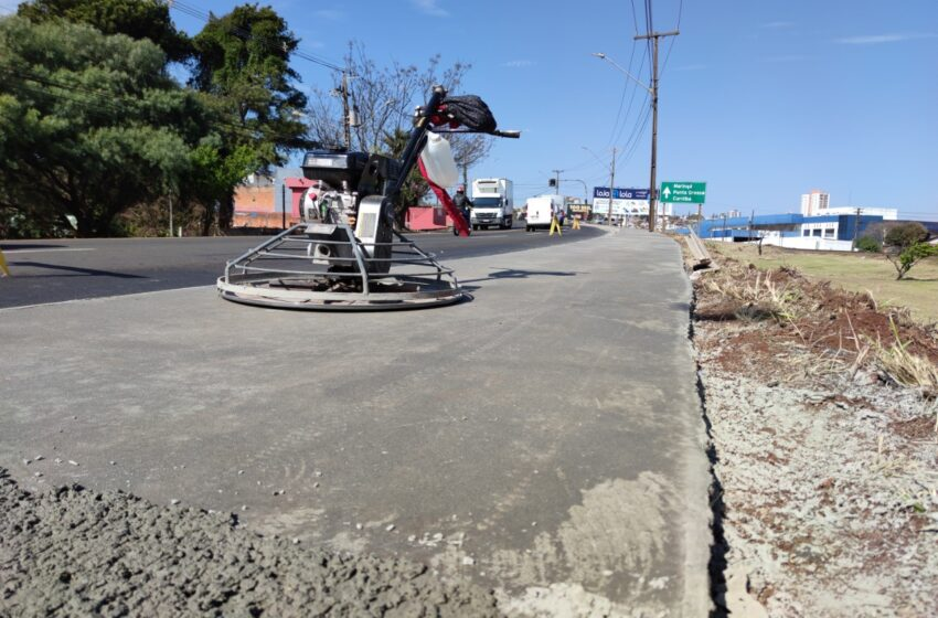 Prefeitura de Apucarana leva acessibilidade a trecho da Avenida Brasil