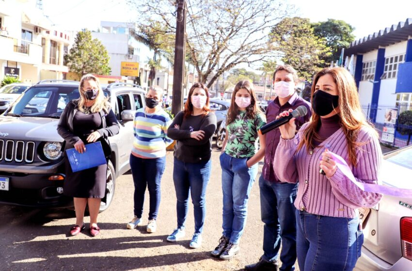 Carreata de 15 anos da Lei Maria da Penha foi realizada em Apucarana