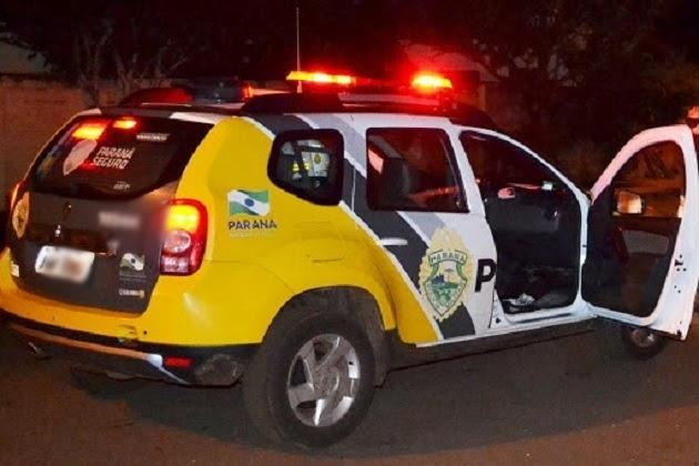 Suspeito é detido, só de cueca, após furto de televisor em Arapuã