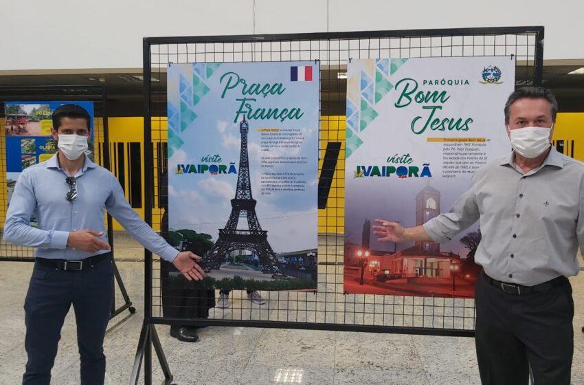 Ivaiporã participa da exposição Visite Vale do Ivaí, que está acessível no Aeroporto Internacional Afonso Pena