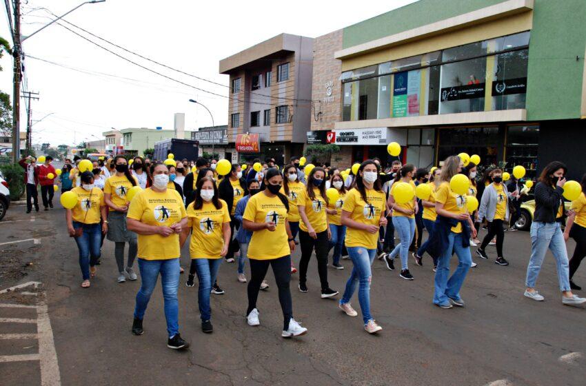 Setembro Amarelo: Caminhada de Prevenção ao Suicídio é realizada em Faxinal