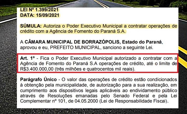 Borrazópolis amarga com problemas na saúde e prefeito quer fazer dívida para asfalto de ruas