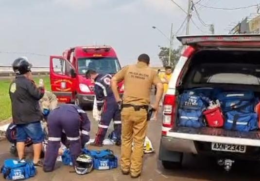 Ex-morador de Borrazópolis sofre acidente grave em Maringá